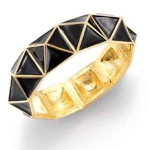 Kenneth Jay Lane black pyramid bangle bracelet